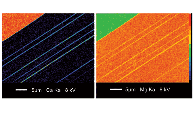 EPMA x-ray maps of pyroxene mineral