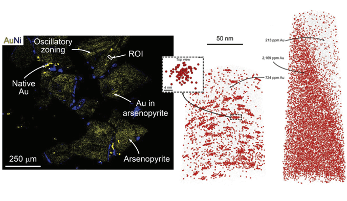 Atom-Probe-Tomography-of-gold-clusters-in-arsenopyrite